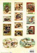 Vintage Photographs 3D Die Cut Decoupage A4 Block  By Studio Light